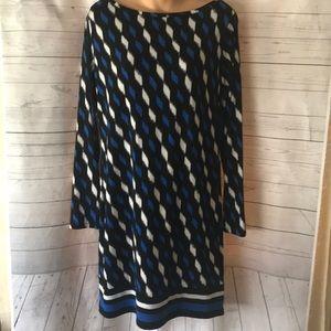 Michael Kors Geometric Print Stretch Dress Sz M
